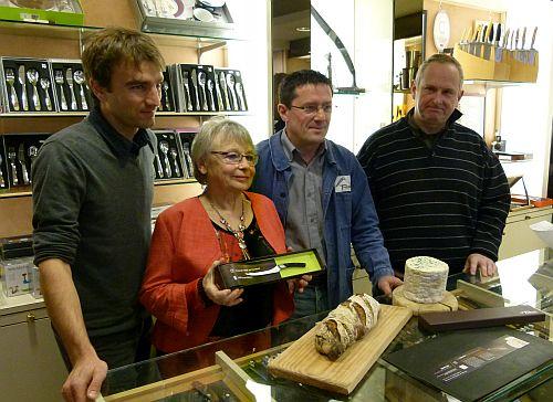 De g. à d. Aurélien Vorger, Marie-France Bonnet, Dominique Chambriard et Marc Blettery.